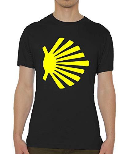 Luckyprint Camino De Santiago Scalob Shell Piligrim Symbol Camiseta para Hombre