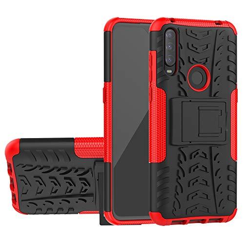 Labanema Kompatibel mit Alcatel 3L 2020 Hülle, Abdeckung Cover schutzhülle Tough Strong Rugged Shock Proof Heavy Duty Hülle Für Alcatel 3L (2020) - Rot