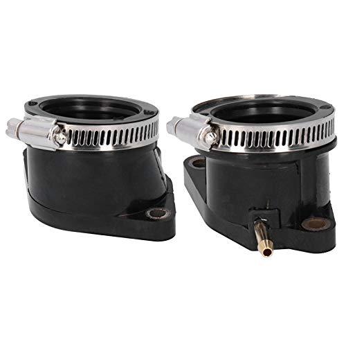 2 piezas Carburador del colector de admisión Carburador Brida del carburador Adaptador del tubo de admisión Bota del colector 5LP ‑ 13586‑01‑00 5LP ‑ 13596‑01‑00 Ajuste para Raptor 660 660r 2
