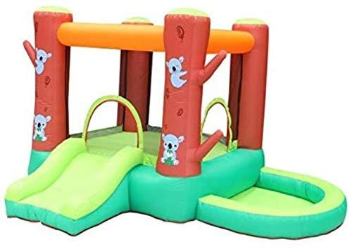 SGSG Castillo Inflable Tobogán Interior y Exterior Trampolín para el hogar Cama de Salto para niños Juguetes pequeños para Jugar