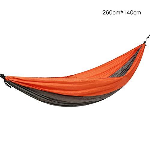Wuzhengzhijia Hamaca de Tela de paracaídas al Aire Libre, Duradera y Duradera, Hamaca de Ocio Ligera y portátil, Adecuada para el hogar, el Parque, el suburbio, los Viajes, la Playa, etc.