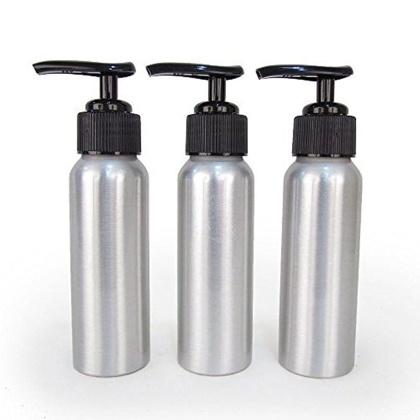 円形成功する建築Set of 3 - Slender Brushed Aluminum 2.7 oz Pump Bottle for Essential Oil Products by Rivertree Life [並行輸入品]