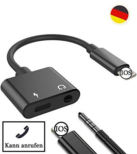 Kopfhörer Adapter für iPhone X Adapter unterstützt Anruf + Lautstärkeregler Aux Audio Kopfhörer Jack Adapter Kompatibel mit iPhone XS/XS Max/XR/X/7/7 Plus/8/8 Plus/iPad für iOS 10.3 oder höher