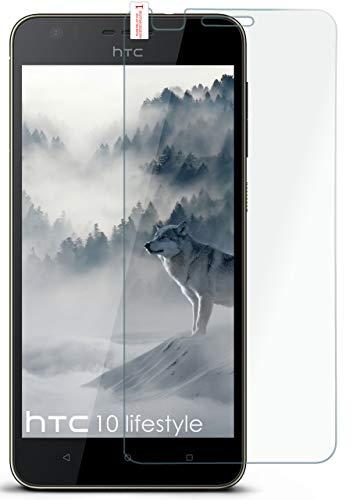 MoEx® Matte Panzerglasfolie aus 9H Echtglas passend für das HTC Desire 10 Lifestyle   Kratzfest, Entspiegelnd + Reduziert Fingerabdrücke