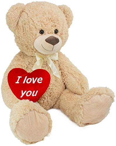 Peluche géante XXL - Ours - I Love You