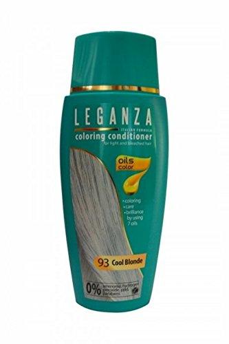 SPARSET 2 x Leganza Färbender Conditioner Farbe 93 Kühl Blond Mit 7 Natürlichen Ölen Ammoniak und Paraben frei