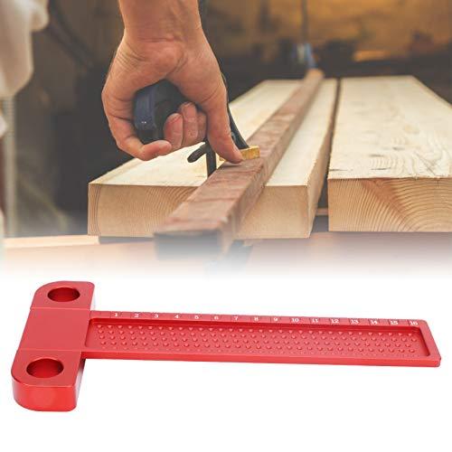 Regla de línea, orificios de 5 mm de distancia Regla de orificios para carpintería de alta dureza con diseño ergonómico para profesionales o aficionados para la ayuda de marcado de