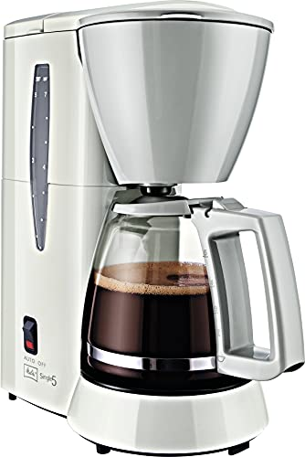 Melitta M720-1/1 Single5 M 720-1/1, Filterkaffeemaschine für kleine Haushalte, Filter-Kaffeemaschine, Kunststoff, 1.2 liters, Glaskanne Weiß/Grau