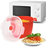 MovilCom® - Recipiente para cocinar Pasta en microondas Quick Pasta/Pasta Maker/Pasta Cooker 4L...