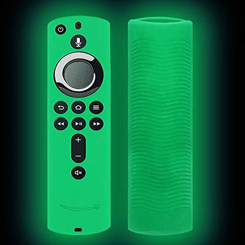 QoFina Case für Fire TV oder TV Stick Remote, Fernbedienung Cover mit Alexa Voice Anti-Rutsch Stoßfest Silikon Schutzhülle Fall Hülle