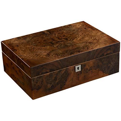 XZ Caja de cigarros Caja humidificante humidificador Caja humectante Madera de Cedro Suave Pintura para Piano Caja humectante Tamaño del Producto: 320 * 230 * 110 mm Artículos de Fumar (Design : A)