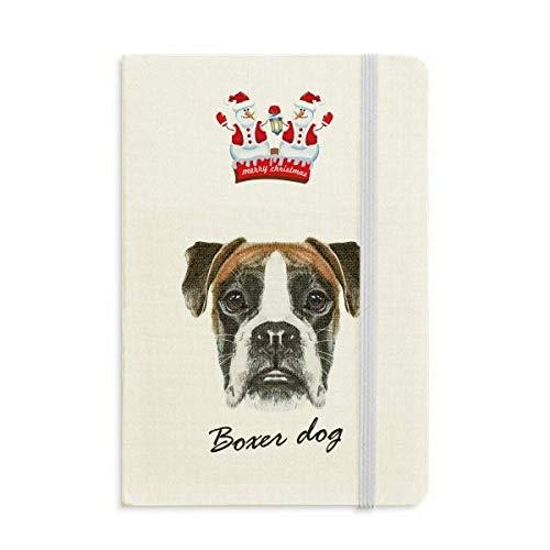 Lop-eard Boxer - Cuaderno de muñeco de nieve para perro, diseño de animales de Navidad