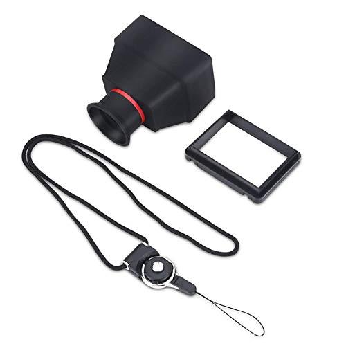 Cuque Visor de 3,2 Pulgadas, Visor de plástico Negro con Pantalla de 3,2 Pulgadas para Amantes de la fotografía o cámaras DSLR sin Espejo para fotografía al Aire Libre