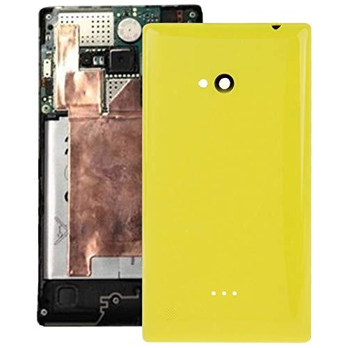 Beilaishi Frosted Superficie plastica di Copertura Posteriore dell'alloggiamento for Nokia Lumia 720 (Nero) Guscio Posteriore Corrispondenza (Color : Yellow)