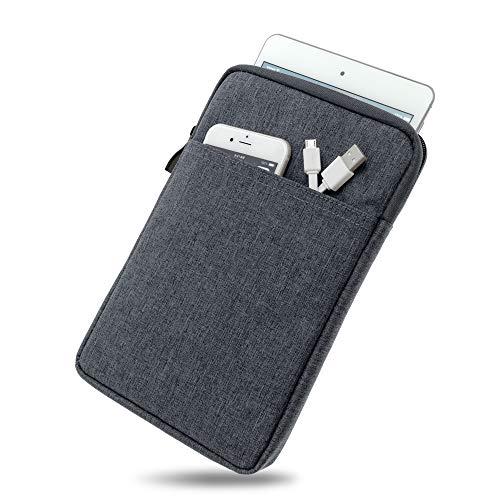 Wasserabweisende Tasche mit Kantenschutz für Samsung Galaxy Tab 4 7.0 in DUNKELGRAU | Superweiches Inlay inkl. Zubehörfach und strapazierfähigem Reißverschluss [passend für Modell SM-T230, SM-T235]