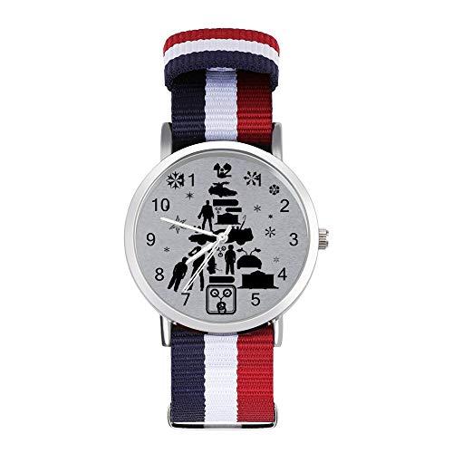 Zurück in die Zukunft Weihnachtsbaum Silhouette Freizeit Armband Uhren Geflochtene Uhr mit Skala