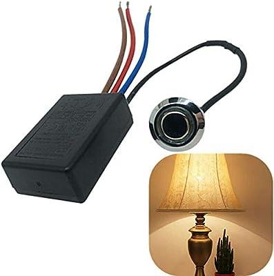 1 interruptor táctil de 4 hilos para lámpara de bombilla