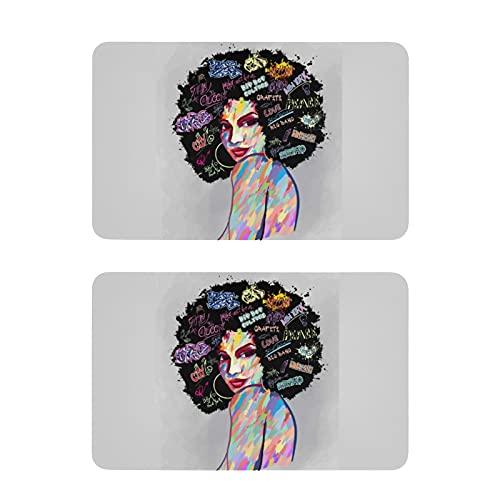Imanes para nevera con diseño de mujer americana con texto en inglés 'Art Imanes decorativos para nevera', 2 unidades