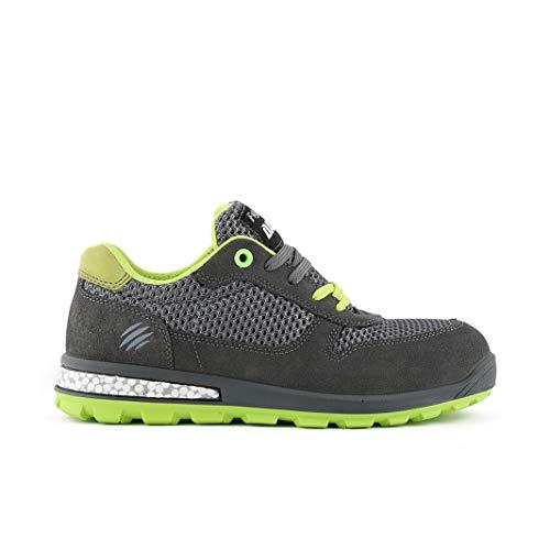 Fighter Specialized - Zapatos de trabajo para hombre, piel y puntera de aluminio, zapatos de trabajo Gris Size: 40 EU