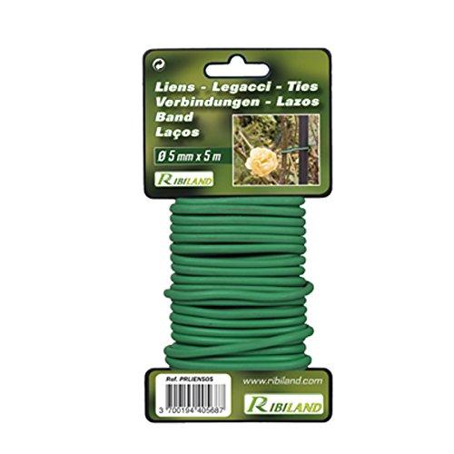 Ribiland 04670 Lien pour Végétaux Vert 5 m Diamètre 5 mm