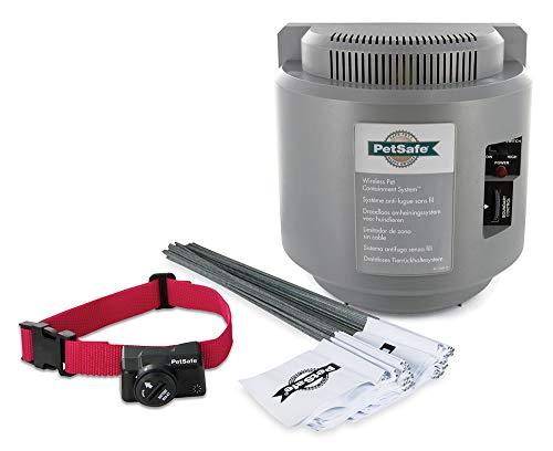 PetSafe – Sistema antifugas inalámbrico y portátil con Collar antifugas, Impermeable a 5 Niveles de estimulación sin Pelusa, Radio de Seguridad de 27,5 m como máximo, fácil de Usar – Pila