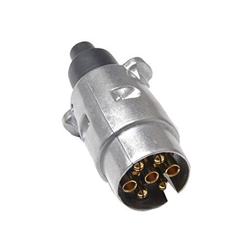 Adaptador de tracción Duradera 7 Pin de la aleación de aluminio del enchufe de remolque de camión eléctrico for remolque 12V conector del remolque conector del adaptador de enchufe de la UE Pieza remo