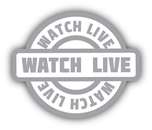 Watch Live Emblem - Self-Adhesive Sticker Car Window Bumper Vinyl Decal Hochwertiger Aufkleber