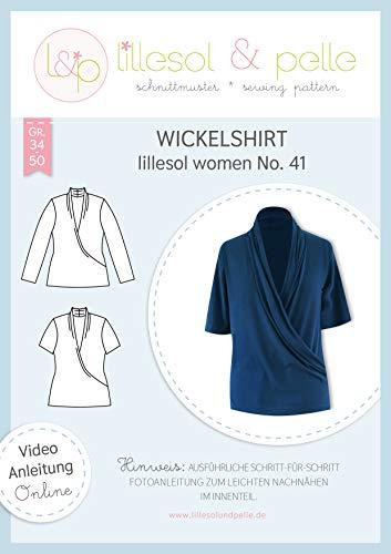 lillesol & pelle Schnittmuster lillesol Women No.41 Wickelshirt in Größe 34-50 zum Nähen mit Foto-Anleitung und Video