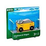 Brio Vagone con Elefante, Multicolore, 33969