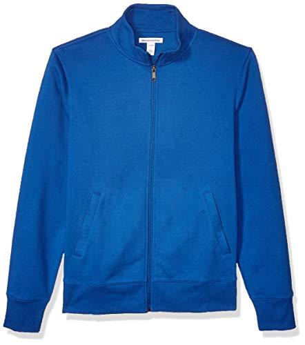 Amazon Essentials Men's Standard Full-Zip Fleece Mock Neck Sweatshirt, Blue XX-Large