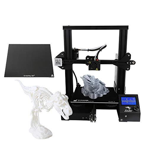 Creality Ender-3X, Stampante 3D fai-da-te di alta precisione aggiornata Autoassembla con lastra di vetro Funzione di stampa con ripresa di potenza protetta in modo sicuro 220 * 220 * 250mm