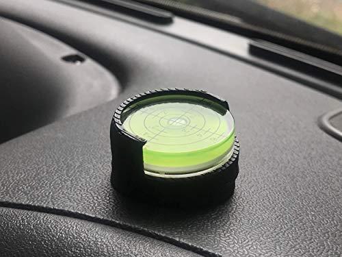 3D Cabin Indicateur de niveau à bulle réglable pour camping-car. Idéal pour fixer sur le tableau de bord. Noir.