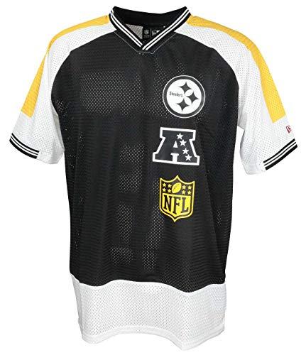 New Era NFL New Era Pittsburgh Steelers T Shirt Jersey American Football Fanshirt Schwarz - L