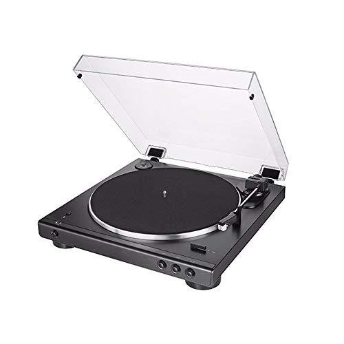SMLCTY Spun Out Bluetooth-Drehscheibe, Vinyl-Plattenspieler, Riemenantrieb for Superior-Ton, Eingebaut Bluetooth-Konnektivität, Kopfhörerbuchse Ausgang und Aux-in, Enthält Dust Cover