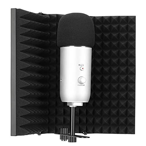 Escudo de Aislamiento de Micrófono Absorbente de Alta Densidad Utilizado para Filtrar la Voz para Blue Yeti y Otros Equipos de Grabación de Micrófono por YOUSHARES(3 Paneles)