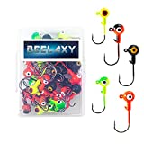 BEELAXY Fishing Lures Jig Heads , Sharp Fishing Hooks for Bass Trout Freshwater,Saltwater Multi Pack (Assorted, 1/16 50Pcs)