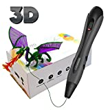 3D Pen, 3D Printing Pen with LED Display Simple Handled 3D Pens for Kids Adults, 3 Adjustable Speed Drawing...