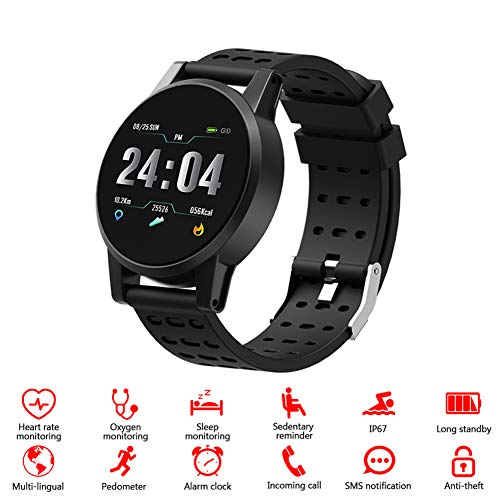 Riserva Fitness Tracker Reloj Pulsera Activity Tracker oximetropulsómetro de muñeca Monitor del sueño presión sanguigna IP67 Pantalla a Color notificaciones Android iOS