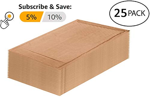 25 Pack Kraft padded envelopes 4x7. Bubble Mailers 4 x 7 Natural Kraft bubble envelopes. Peel and Seal. Brown cushion envelopes for mailing, packing and packaging. Shipping mailers in bulk, wholesale. Photo #6
