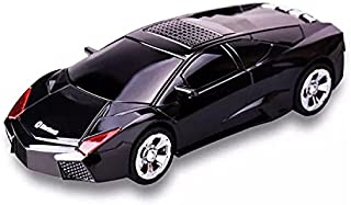 Bluetooth headset in the shape of a beautiful car Works with bluetooth, flash output, and memory (black)