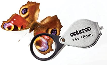 Opticron Folding Metal Loupe Magnifier 10x 23mm 0.9
