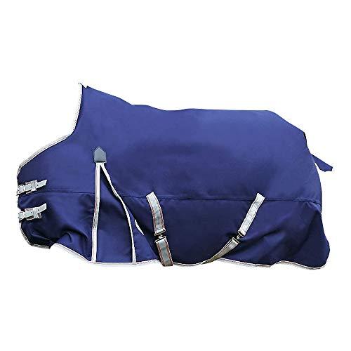 Weatherbeeta - Couverture légère COMFITEC ESSENTIAL - Cheval (135 cm) (Bleu marine/argent/rouge)