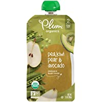 6-Pack Plum Organics Stage 2 Baby Food, 3.5 Oz (Pea, Kiwi, Pear & Avocado)