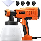 Dicfeos Paint Sprayer, Professional 700W HVLP Home Paint Spray Gun, with 1300ml Container, 4 Nozzle Sizes, Great for Cabinet, Fence and Furniture, Easy Spraying and Cleaning