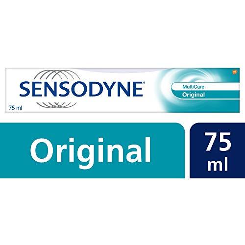 Sensodyne MultiCare Original tandpasta, dagelijkse tandpasta met fluoride, 1 x 75 ml, bij gevoelige tanden