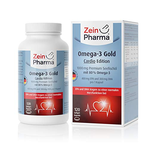Zein Pharma Omega-3 Gold Cardio Edition 1000 mg, 120 caps, 200 g