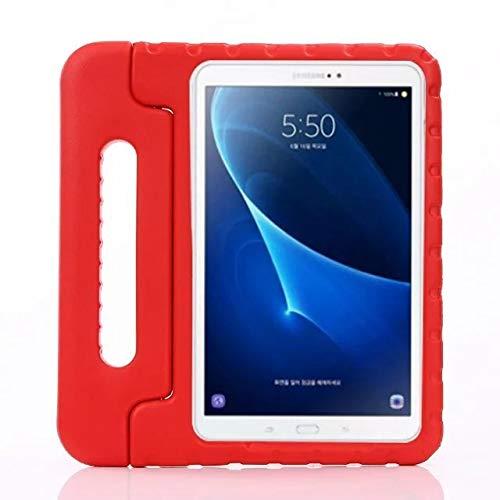 QiuKui - Funda para Samsung Galaxy Tab A6 10.1, para niños, a prueba de golpes, espuma EVA, funda para tablet Samsung Galaxy Tab A 6 10.1 T580 T585 de 10.1 pulgadas (color: rojo)