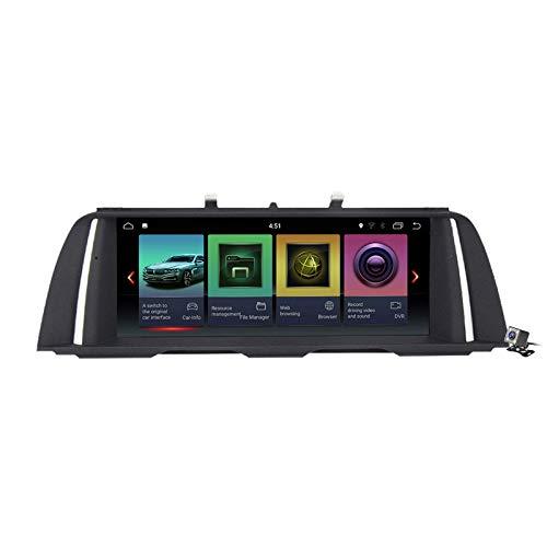 Car Stereo Sat Android 10.0 Radio 2 DIN Head Unit para BMW 5 Series F10 F11 2010-2016 Navegación GPS Reproductor Multimedia MP5 de 10.25 Pulgadas Receptor de Video con 4G WiFi DSP Carplay