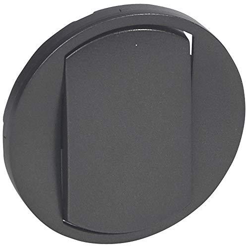 Legrand 067901 Enjoliveur Large Céliane pour Interrupteur, Poussoir Soft, Finition Graphite