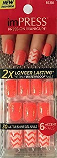 """NEW 2015 KISS 2x Longer Lasting imPRESS """"BOOGIE DOWN"""" (O) by Broadway Press-On Manicure Nails"""